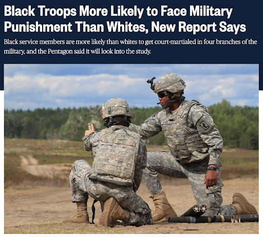 Military News and Blacks
