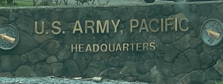 FORT SHAFTER - military base in hawaii